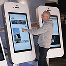 Giant smartphone for events trade show rentals