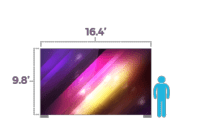 rent LED screen wall Milwaukee