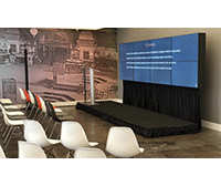 custom size video wall rental