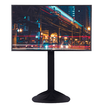 tv rental screen sizes for events