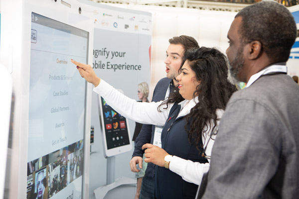 touchscreen tv rental for events